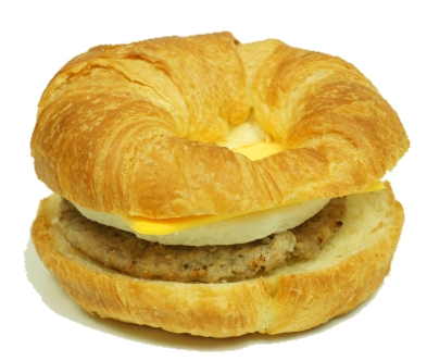Sausage Egg and Cheese Croissant