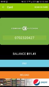 CK Card Screen