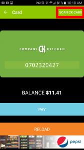 Scan CK Card Screen